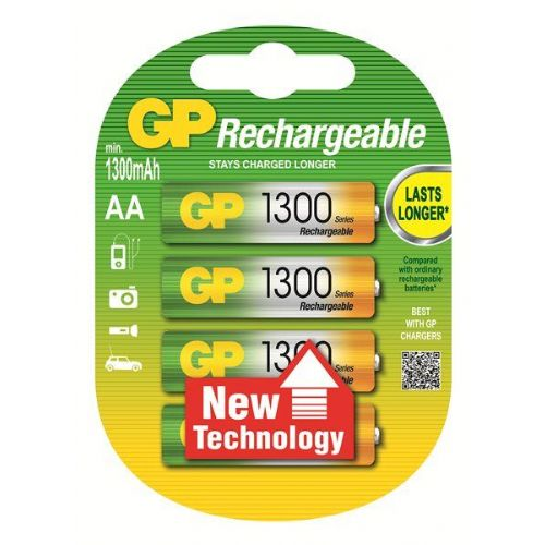 AA 1300 mAh Ni-Mh polnilna GP baterija (4 kosi)