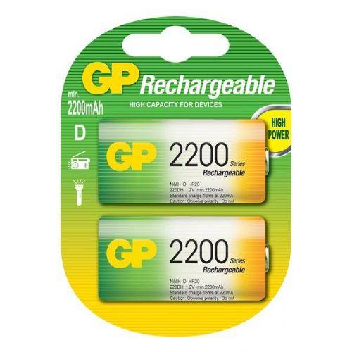 D 2200 mAh Ni-Mh polnilna GP baterija (2 kosa)