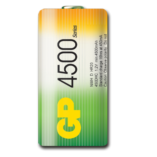 D 4500 mAh Ni-Mh polnilna GP baterija