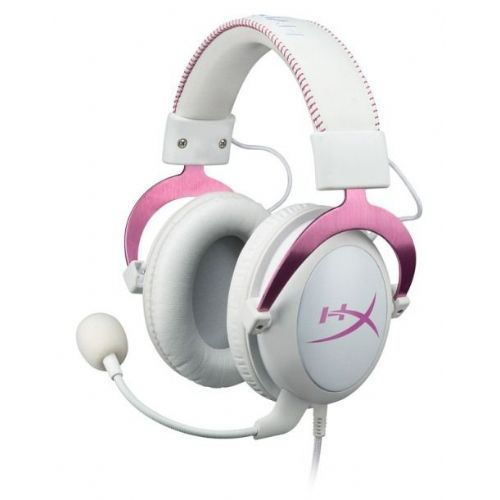 Slušalke z mikrofonom Kingston HyperX Cloud II roza, gaming (KHX-HSCP-PK)