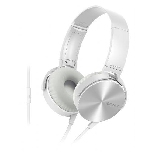 SONY slušalke MDR-XB450APW bele barve