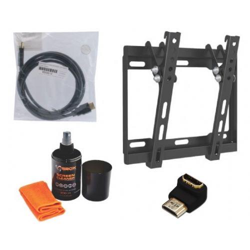 Nosilec stenski za TV + čistilni set + adapter + HDMI kabel 3m
