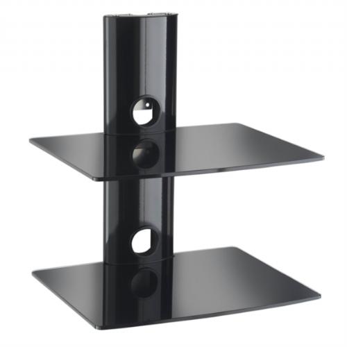 VonHaus 2 nadstropni sistem stekleni polic za A/V opremo - 05/028