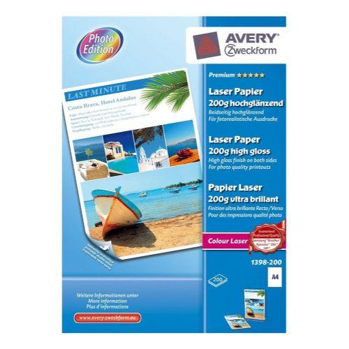 Foto papir barvni laserski Premium A4 - 200 g, 1398-200