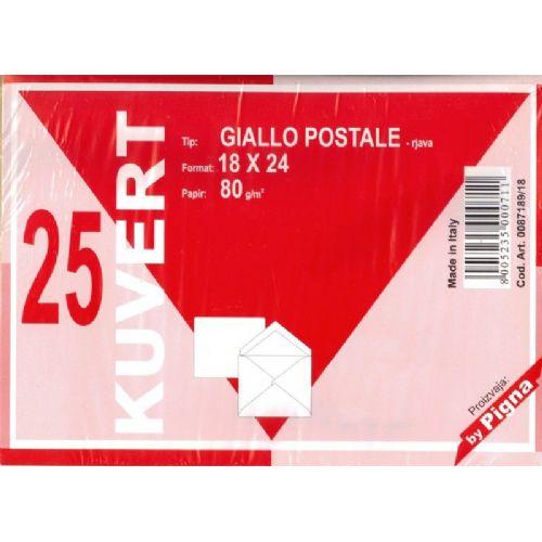 Kuverta B5 - 17,5 x 25,0 cm, rjava - 80 gr, 1/1