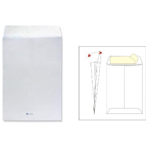 Kuverta vrečka B4 - 25 x 35,3 cm, bela, 100 g - 1/1