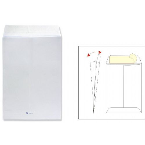 Kuverta vrečka B4 - 25 x 35,3 cm, bela, 120 g - 1/1
