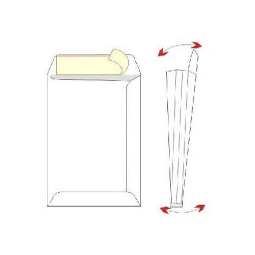 Kuverta vrečka B4 - 25 x 35,5 x 4 cm  z dnom, bela - 1/1