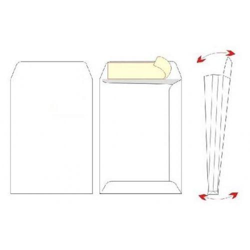 Kuverta vrečka C4 - 23 x 33 x 4 cm  z dnom, bela - 1/1