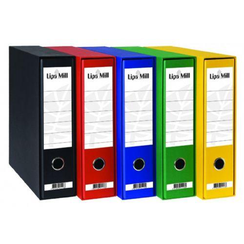 Registratorji Lipa Mill Office A4 široki s škatlo 10 kosov