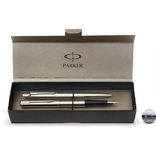 Set Parker Jotter – nalivno pero + kemični svinčnik, srebrn 16842