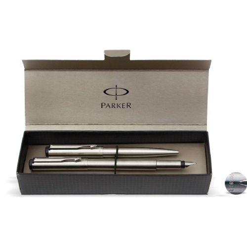 Set Parker Vector – nalivno pero + kemični svinčnik, srebrn 16851