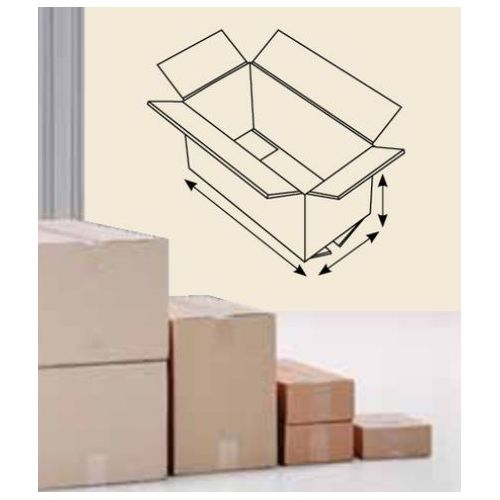 Zložljive kartonske škatle 380 x 190 x 95 mm