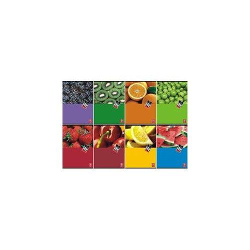 Zvezek s trdimi platnicami Fruits A5, črte