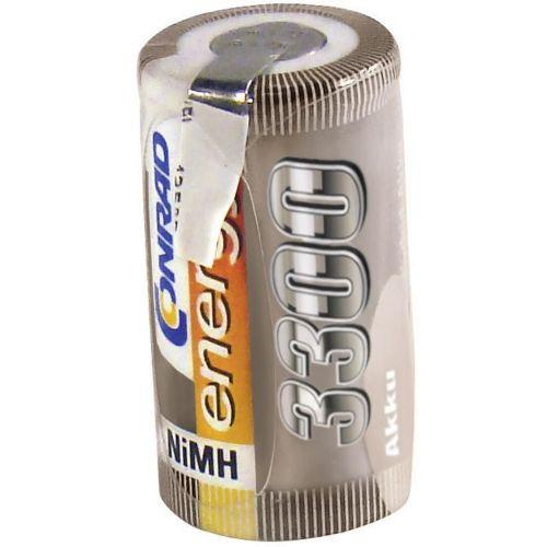 Conrad energy NiMH-akumulatorSub-C-enojna celica 1.2 V / 3300 mAh Spajkalni priključek: D
