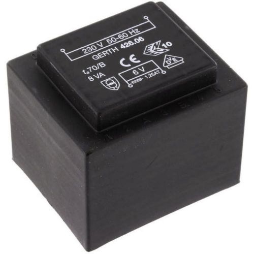 EI 42/20 Transformator za tiskana vezja, primarni: 230 V sekundarni: 18 V 444 mA 8 VA Gerth