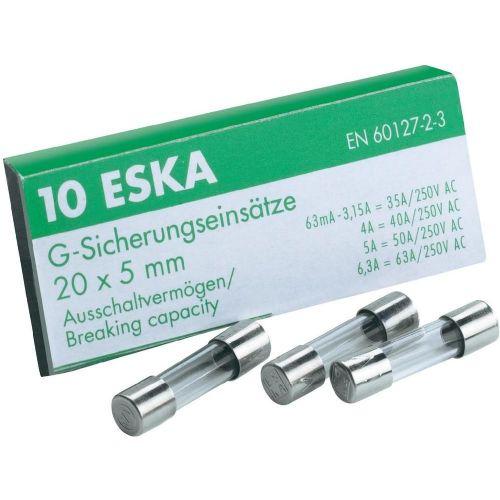 Fina varovalka ( x D) 5 mm x 20 mm 2.5 A 250 V počasna -T- ESKA 522021 vsebuje 1000 kosov
