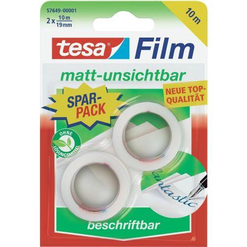 Lepilni trak Tesa Tesafilm, 57649, (D x Š ) 10 m x 19 mm, matprozoren, vsebina: 2 koluta 57649-01-00