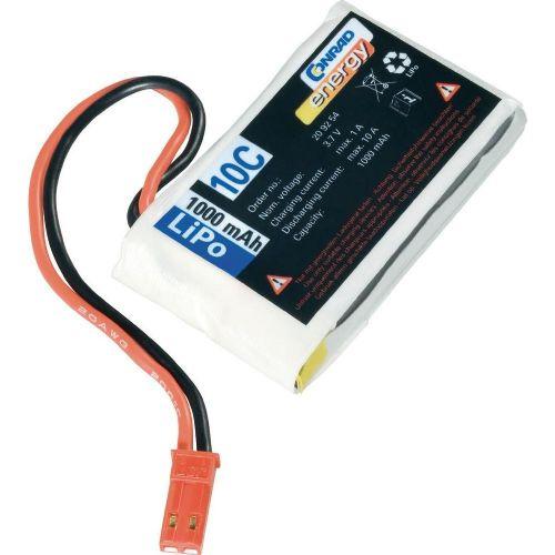 LiPo-akumulator Conrad energy, 3,7 V, 1.000 mAh, 10 C, vtični sistem: BEC
