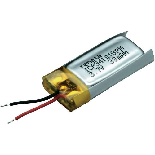 LiPo-akumulator Renata ICP341018PM 3.7 V 35 mAh (D x Š x V) 19.5 x 10.2 x 3.7 mm 100730