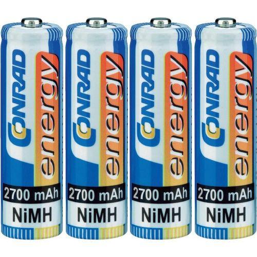 Mignon (AA) akumulator NiMH Conrad energy HR06 2700 mAh 1.2 V 4 kosi