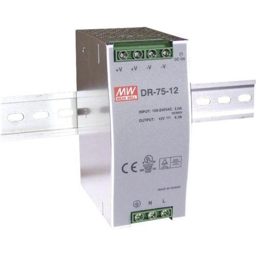 Napajalnik za namestitev na vodila (DIN-letev) Mean Well DR-75-48 48 V/DC 1.6 A 76.8 W 1 x