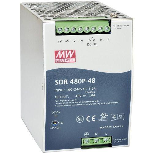 Napajalnik za namestitev na vodila (DIN-letev) Mean Well SDR-480P-24 24 V/DC 20 A 480 W 1 x