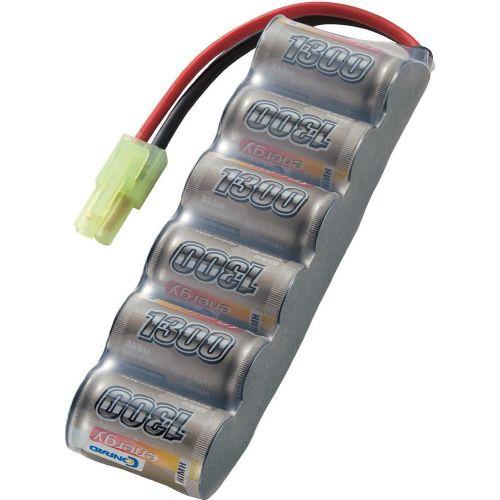 NiMH akumulatorski paket Conrad energy, 2/3 A, 7,2 V, 1300 mAh, vtični sistem: Mini Tamiya CO206629