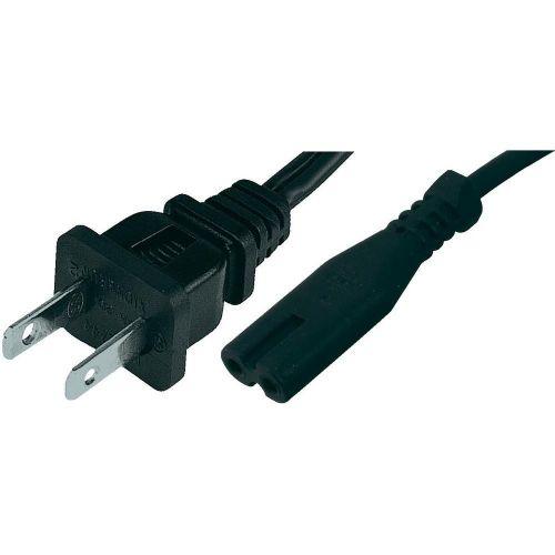 Omrežni kabel za brivnik [ameriški vtič - IEC vtičnica C7] črne barve 1.8 m HAWA 1008267