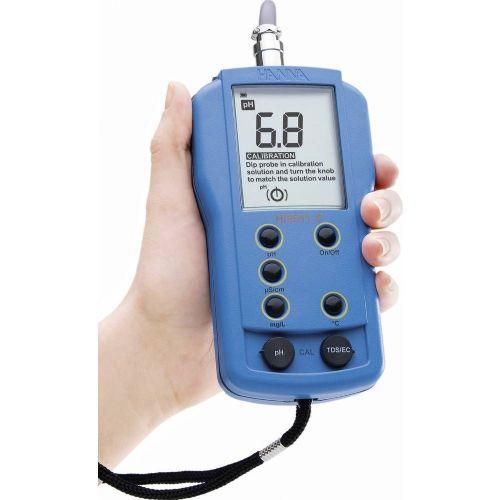 Prenosni kombiniran merilnik Hanna Instruments HI 9811-5, 0-6.000 uS/cm, 0-14.00 pH