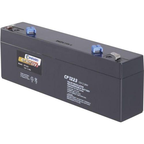Svinčev akumulator 12 V 2.3 Ah Conrad energy CE12V/2, 3Ah 250177 svinčevo-koprenast (AGM) 177 x 60 x 34 mm ploščati vtič 4.8 mm