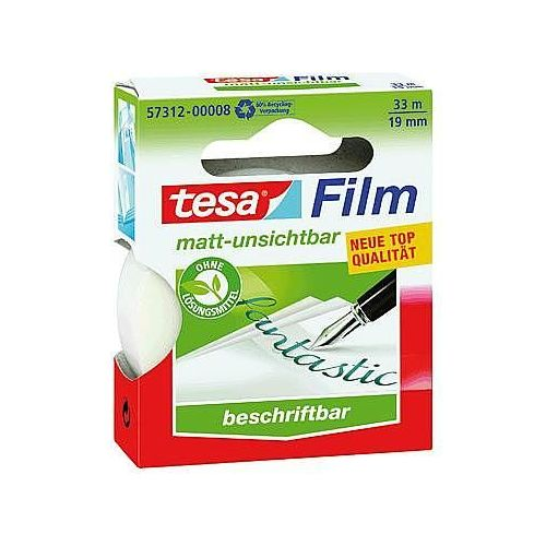 tesafilm® neviden (D x Š) 33 mx 19 mm, prozoren (mat) TESA vsebina: 1 rol