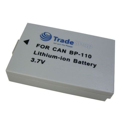 2x Baterija 3,6V/3,7V za Canon BP-110 BP110 mit Infochip