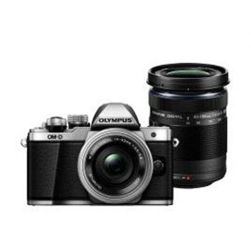 Brezzrcalni fotoaparat OLYMPUS OM-D E-M10 II sreb+14-42mm1:3.5-5.6EZs+40-150mm1:4.0-5.6R črn