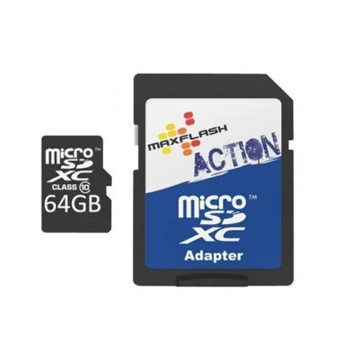Spominska kartica Micro Secure Digital (microSDXC) Action 64GB Max-Flash