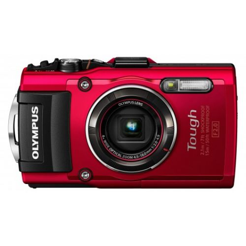 Fotoaparat OLYMPUS Tough TG-4 Rdeč