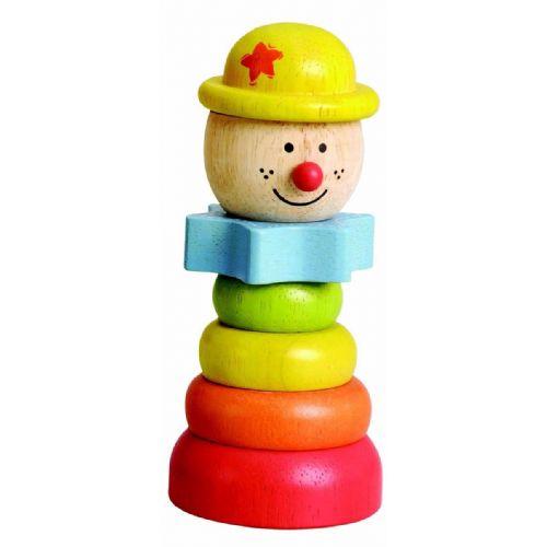 Lesena igrača - klovn z rumenim klobukom (art. 33267)