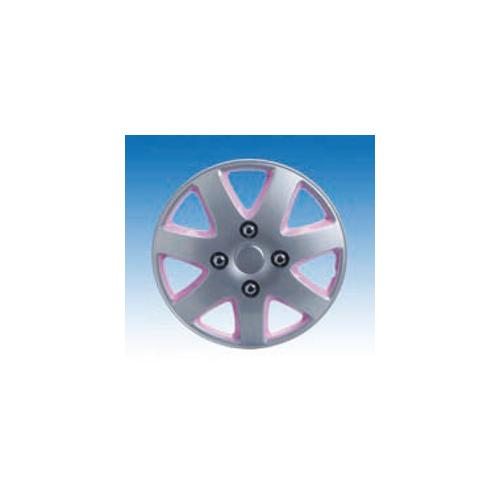 uniTEC Lady Style Okrasni pokrov za platišča srebrno-pink AJS73121