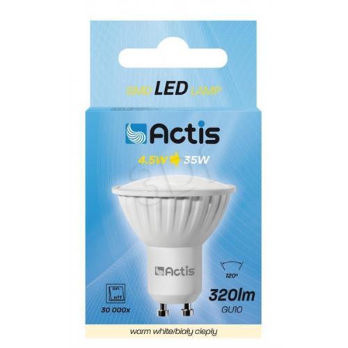 Actis LED sijalka GU10, 4,5 W, topla svetloba - ACS-S6010W