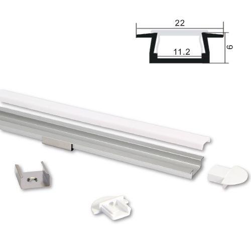 ALU LED profil Typ-2 (22061) 2m set z mlečno belim pokrovom