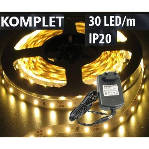 Komplet: LED trak Topla Bela 30LED/m IP20