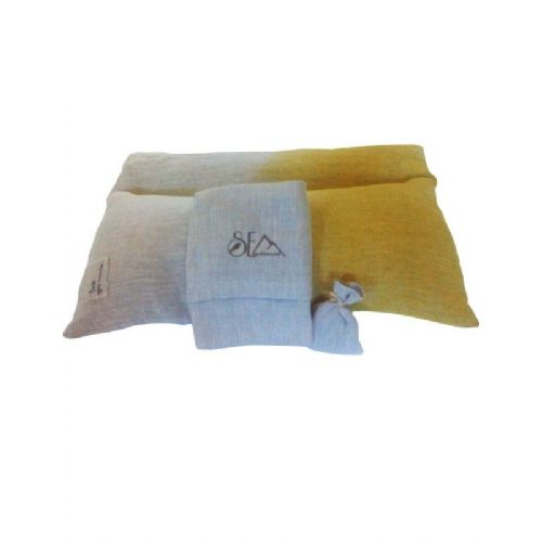 Naravna blazina pira-lan-kurkuma Sonček 30x50 cm