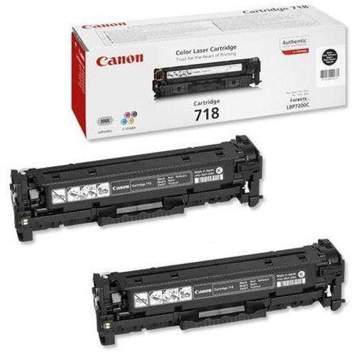 Canon CRG-718 BK TwinPack črn