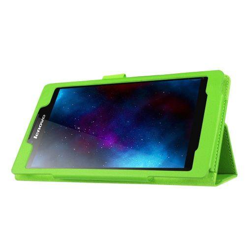 """Eleganten etui """"Litchi"""" za Lenovo Tab 2 A7-20 iz umetnega usnja - zelen"""