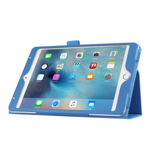 """Eleganten pameten etui """"Smart Litchi"""" za iPad Mini 4 - svetlo moder"""