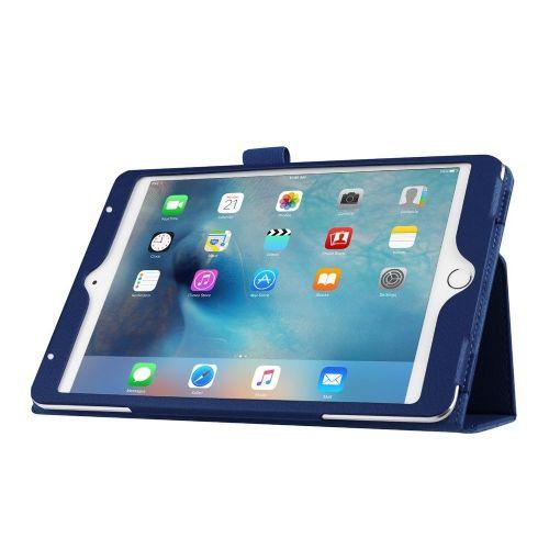 """Eleganten pameten etui """"Smart Litchi"""" za iPad Mini 4 - temno moder"""