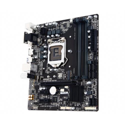 GIGABYTE GA-B150M-DS3H, DDR4, SATA3, USB3, HDMI, LGA1151 mATX - GA-B150M-DS3H
