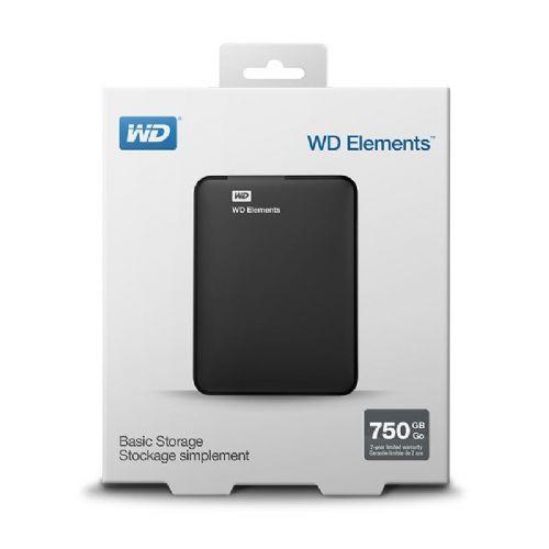 HDD WD EXT Elements™Port.750GB (WDBUZG7500ABK-EESN)