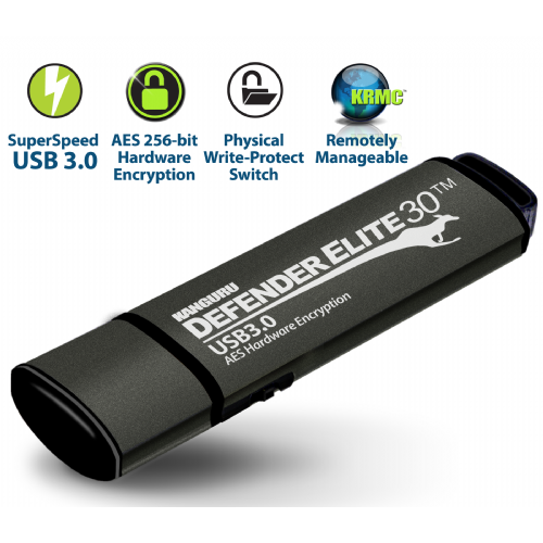 Kanguru Defender Elite30™ z mehanskim stikalom za zaščito pisanja/brisanja 32GB