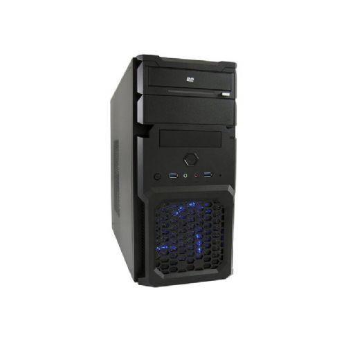 LC-POWER 2001MB micro ATX s 600W LC600H-12 napajalnikom moder LED črno ohišje